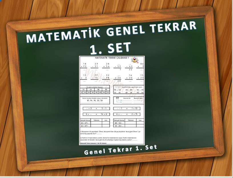 matematik genel tekrar 1. set