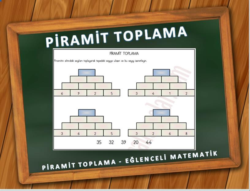 piramit toplama eğlenceli matematik
