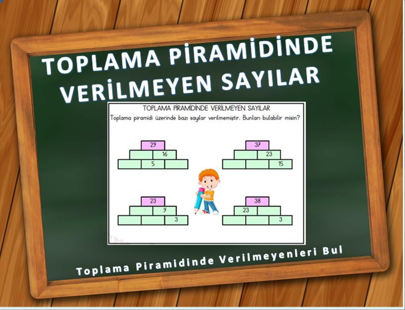 toplama piramidinde verilmeyen sayıları bulma