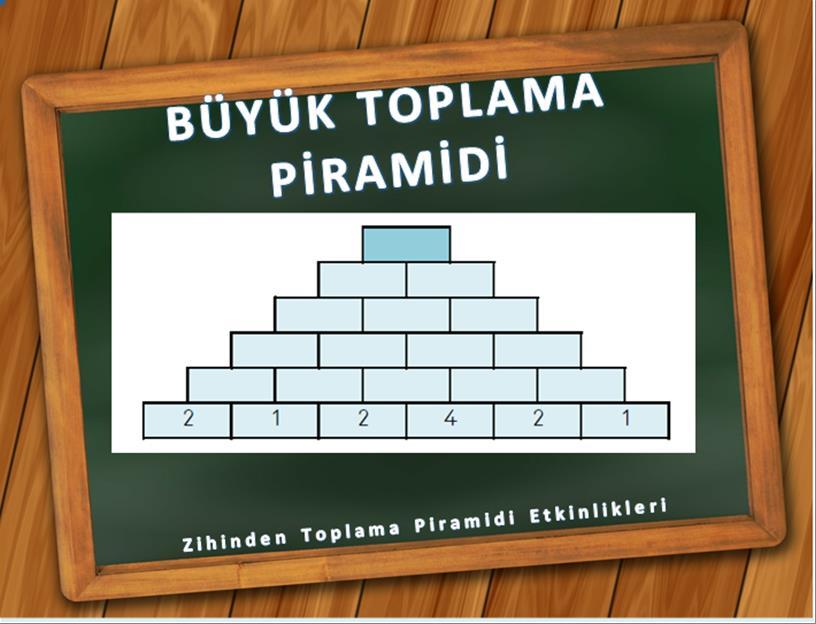 zihinden büyük toplama piramidi